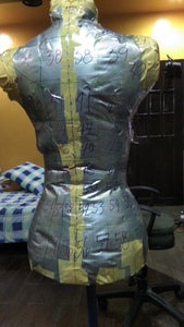 Marking the Tape Dress Form