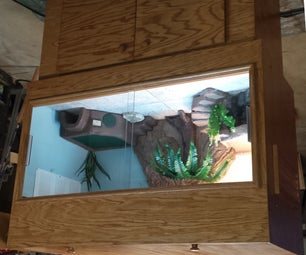 Bearded Dragon Enclosure With Webcam and Remote Monitoring