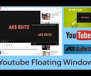 How to Open Youtube Floating Window?
