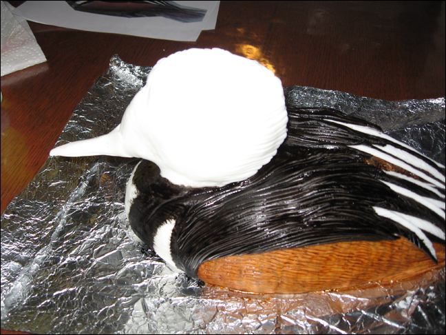 Picture of Applying the Fondant! Part 2