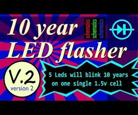 10 Year Led Flasher (Version 2 With Boost Converter)
