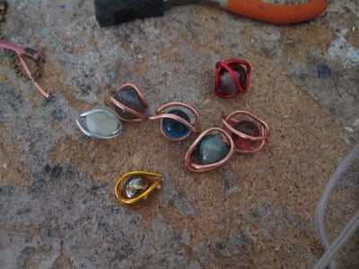 Wire Wrapped Marble Pendants