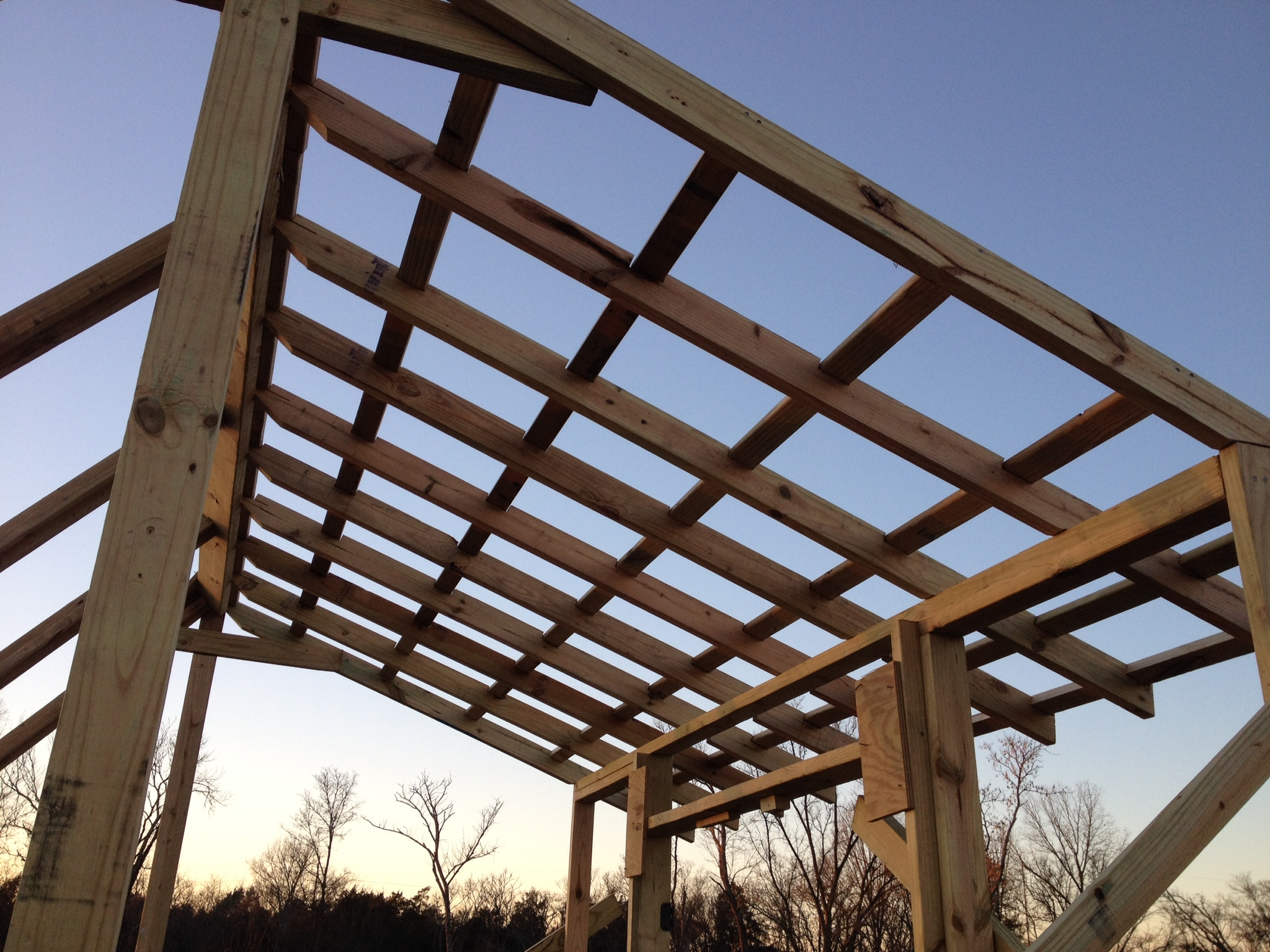 Picture of Final Framing, Ridge and Roof Assembly.