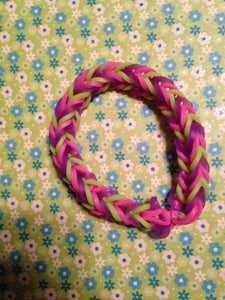 Fishtail - Purple Green and Pink