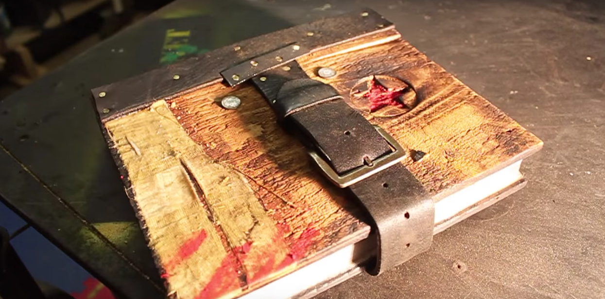 Picture of Make a Prop Witch's Spell Book From Scraps