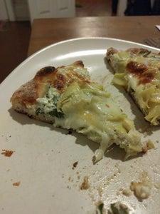White Pizza: Spinach & Artichoke Hearts