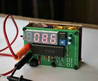 Rechargeable Digital Voltmeter Using ICL7107 ADC