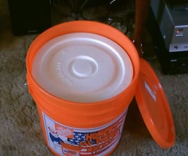Simple (Hard-Sided) Ice Chest - 5 Gallon Bucket Style! W/styro-liner - Cheap & Easy