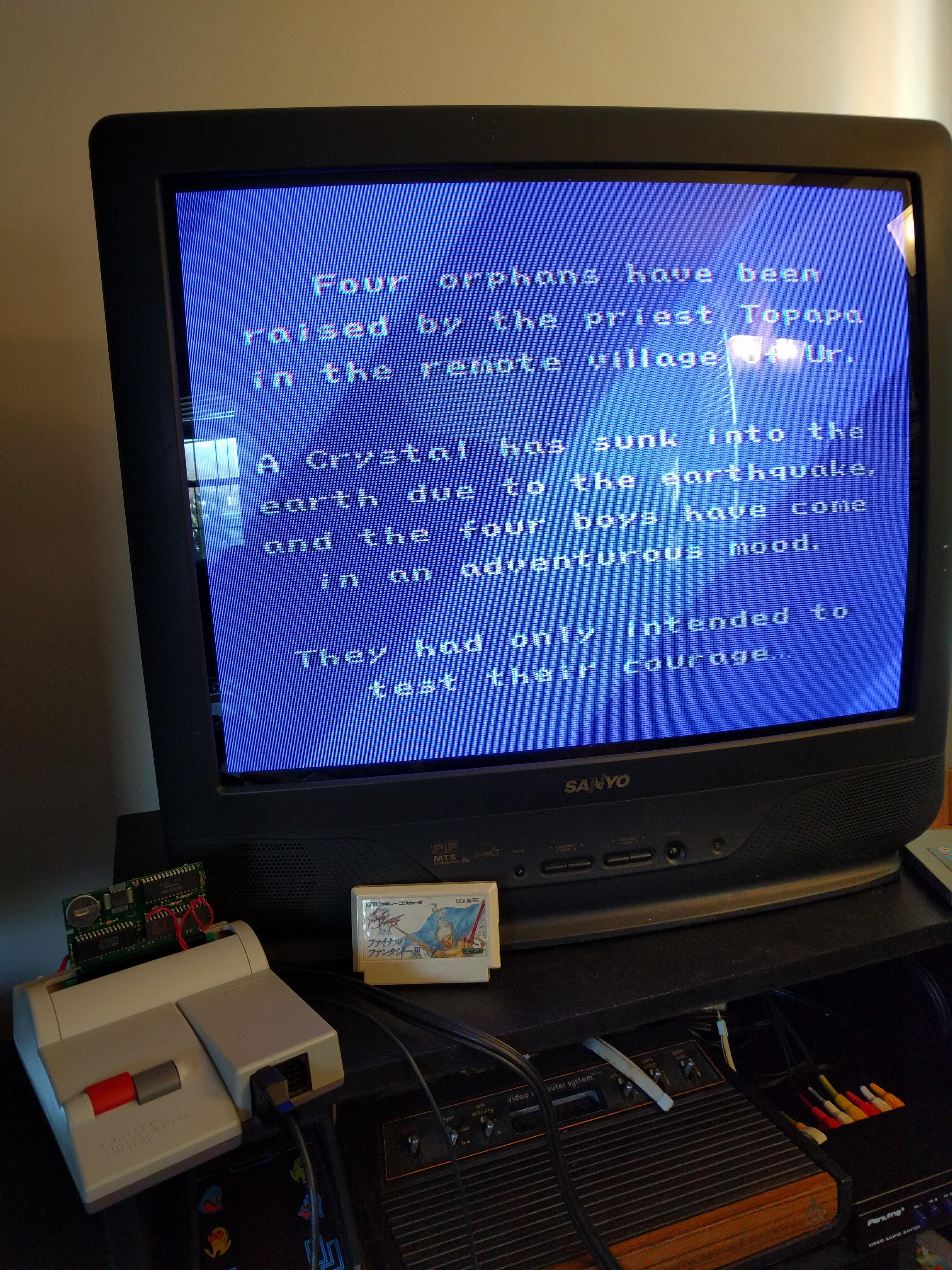 Picture of Final Fantasy III NES/Famicom English Translation Reproduction Cartridge