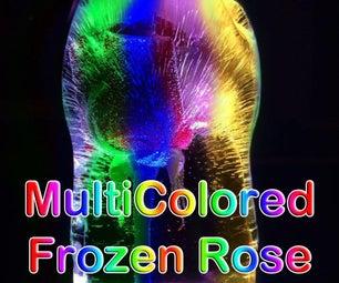 Multicolored Frozen Rose LED Light