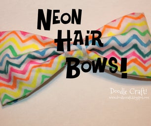 Sharpie Dyed Trendy Neon Hair Bows!