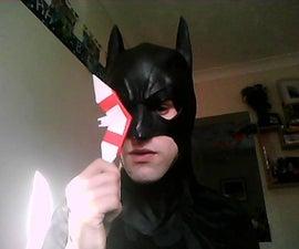 how to make a paper batarang