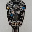 Solar Powered SKULL Blinky LED Pendant Jewelry