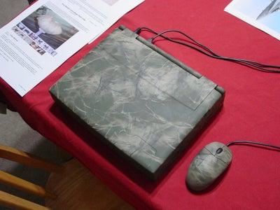 High-Tech Pine Needle Camo Painted LapTop Computer