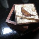 Small Veneered Jewelry Box with Marquetry Lid