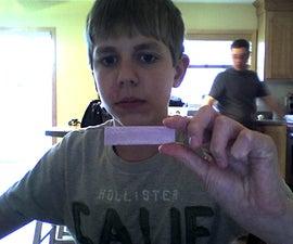 Make a gum wrapper bullet! (Or something very similar...)