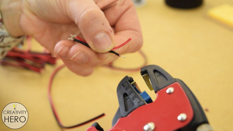 Picture of Cutting and Preparing the LEDs.