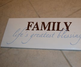 Homemade Signs for Cheap