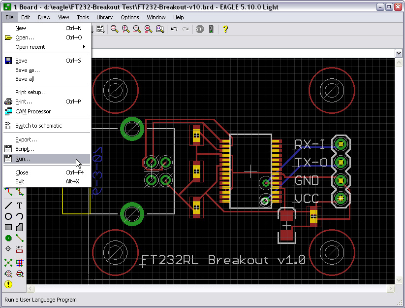 Picture of Run Import_bmp.ulp in EAGLE PCB Layout Editor