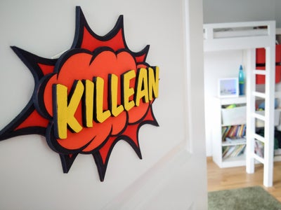 Comic Callout Door Sign