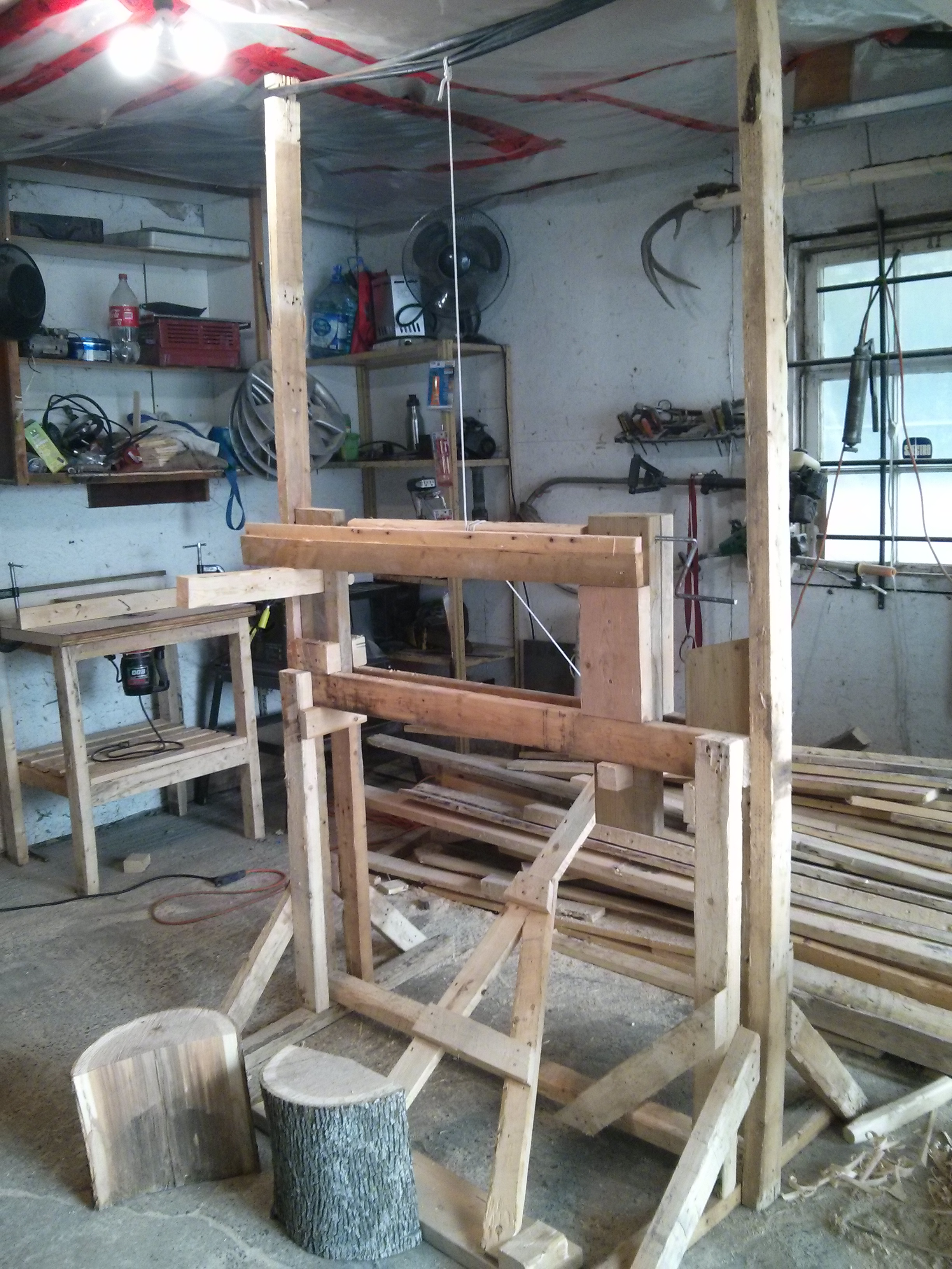 Picture of Building a Viking Pole Lathe Without Using Power