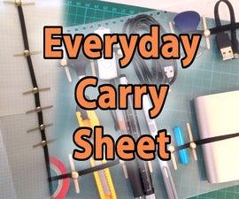 Everyday Carry Sheet - EDC