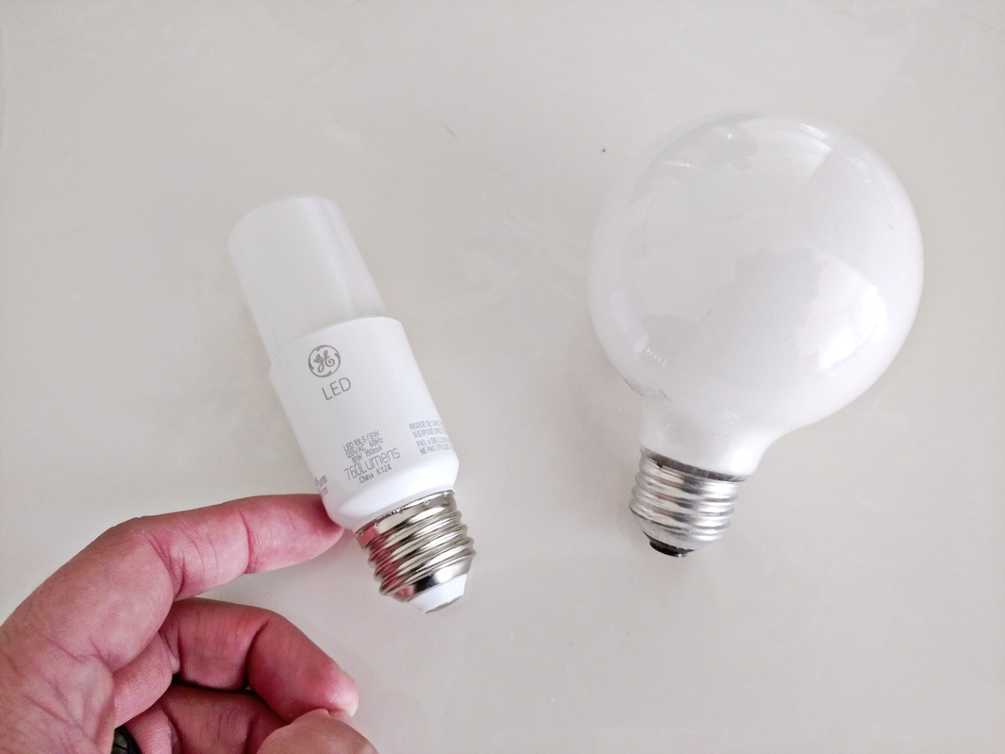 Picture of LED to Incandescent Comparison