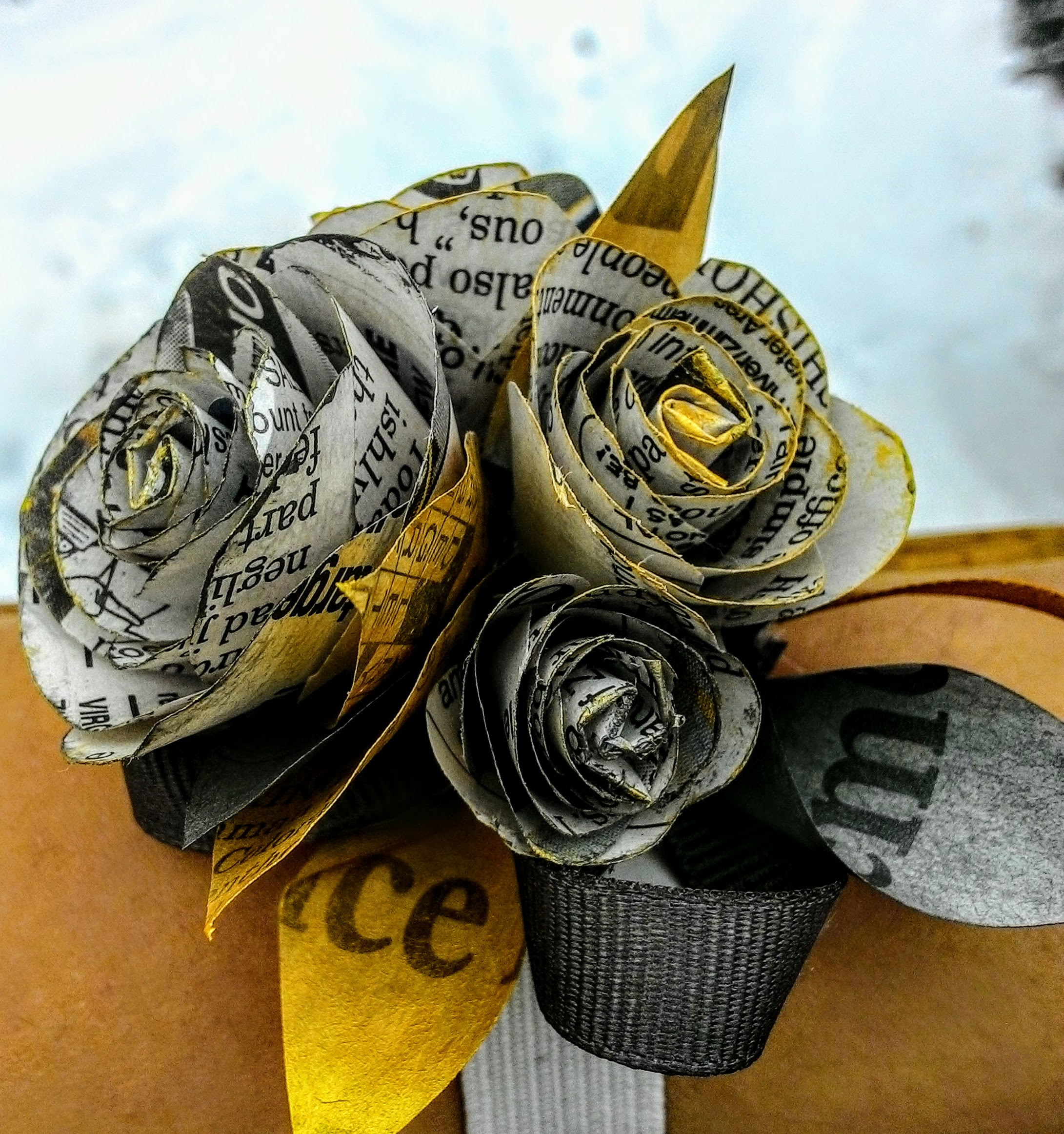 Picture of Newspaper Corsage