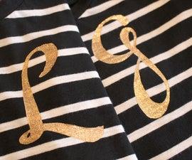 DIY: Make a sparkly monogrammed T-shirt