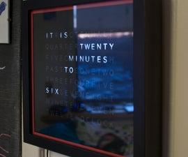 Sleek word clock