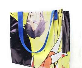 Upcycled Banner Tote Bag