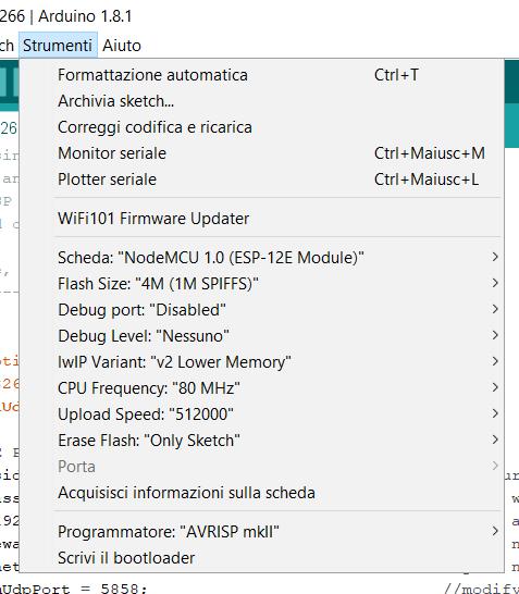 Picture of ESP8266 Configuration