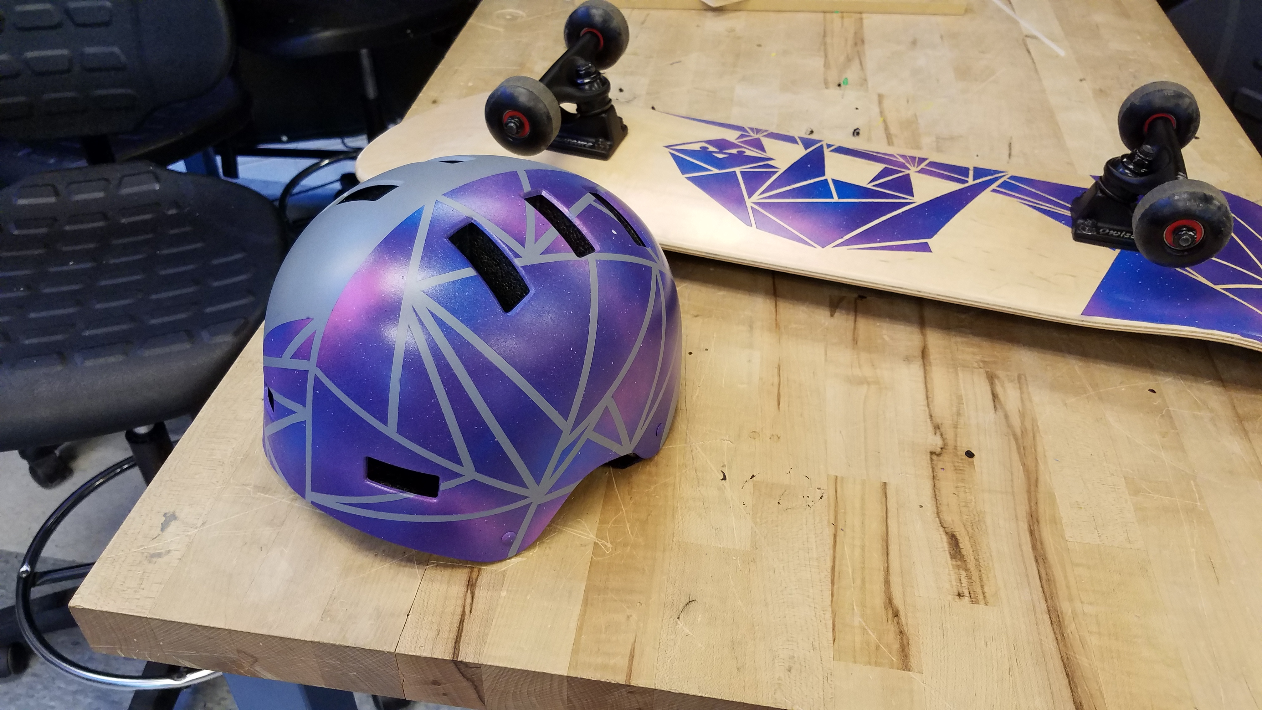 Picture of Galaxy Sloth Custom Helmet