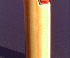 Classy wood case for Bic lighter