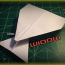 How to Make the Widow Paper Airplane