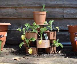 Stackable 3D Filament Spool Garden