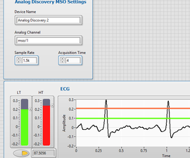 DIY ECG Using a Analog Discovery 2 and LabVIEW