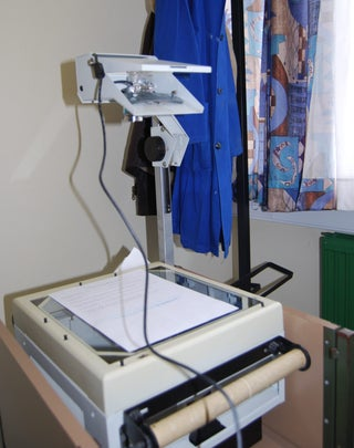 Convert Overhead Projector to Overhead/document Camera