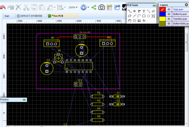 Picture of PCB Layout Conversion Using EasyEDA: