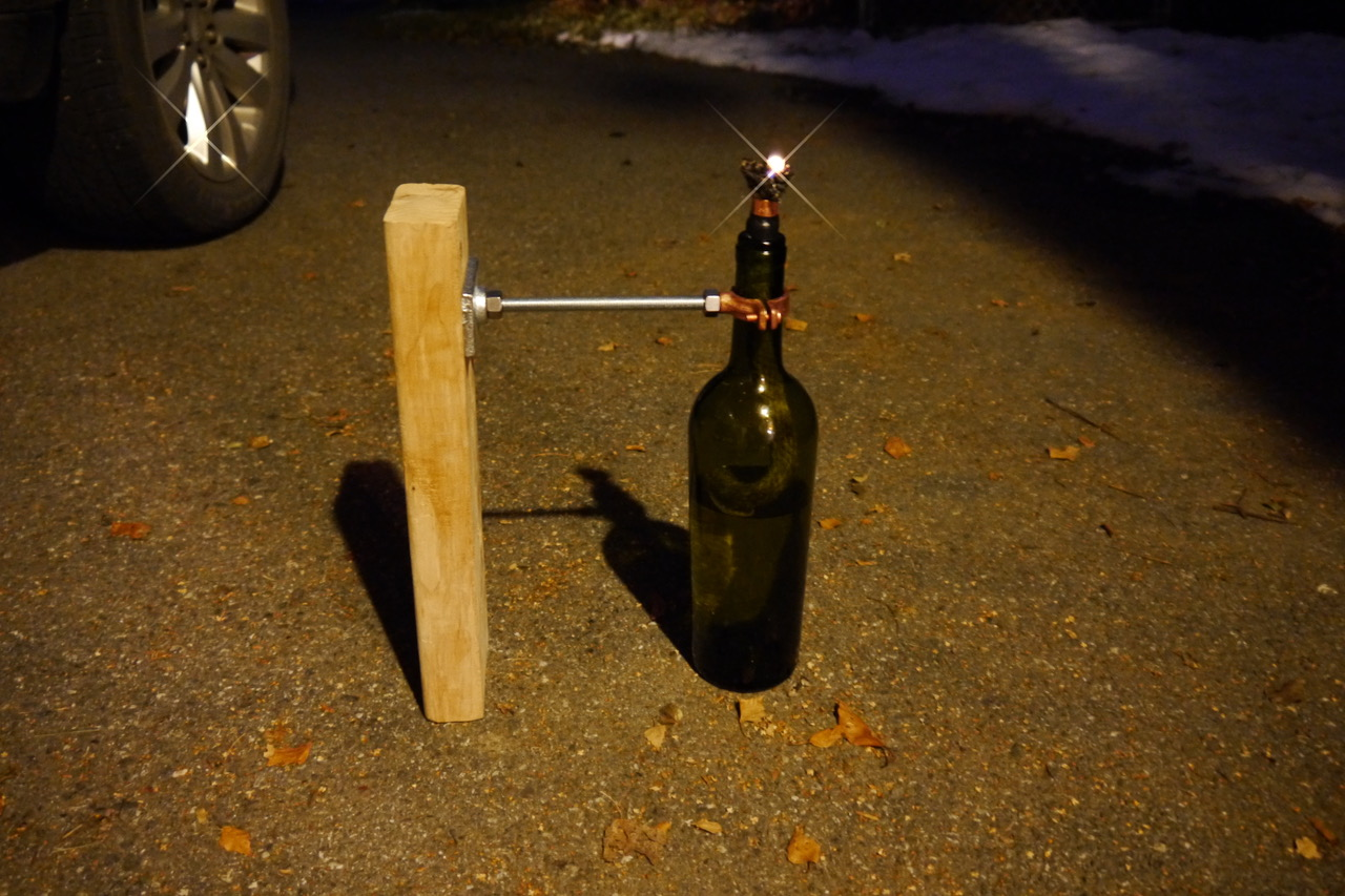 Picture of DIY Wine Bottle Tiki Torch