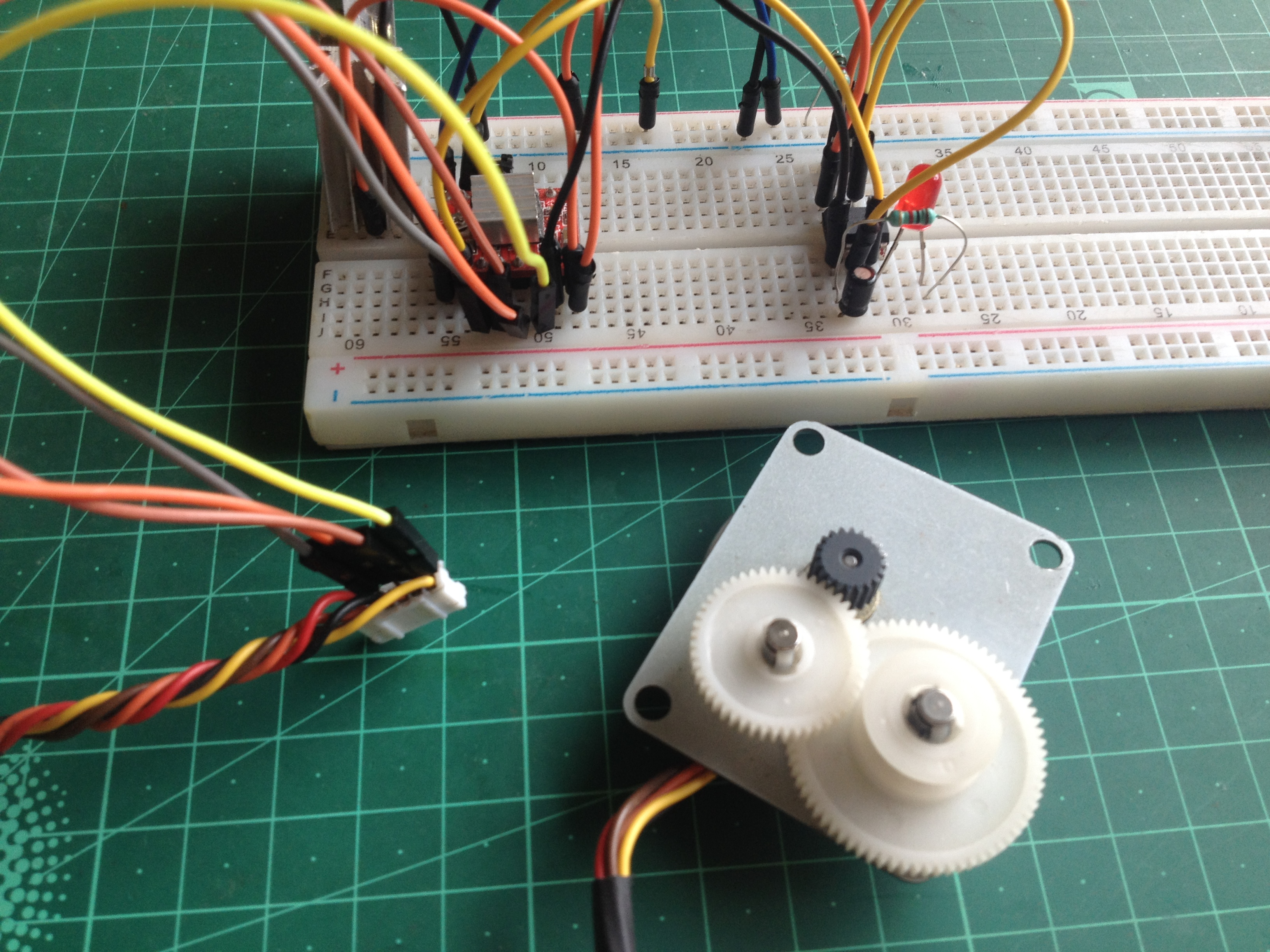 Picture of Connect the Stepper Motor to the Motor Driver