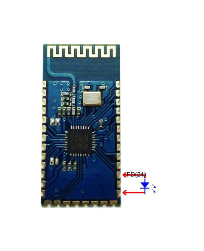 Picture of Solder the LED to the Bluetooth Slave Module