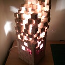 Wooden pixel lamp