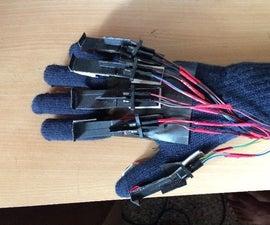 Braille hand glove