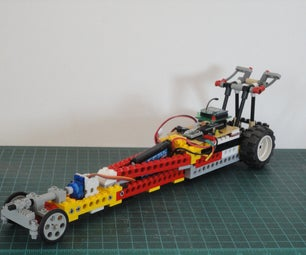 """""""12 Thumbs"""" R/C LEGO Dragster"""