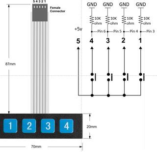 [DIAGRAM_38EU]  Arduino 1x4 Keypad Membrane - Instructables | Membrane 1x4 Keypad Wiring Diagram |  | Instructables