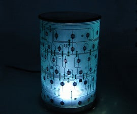 Keyboard Circuit Sheet Lampshade
