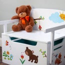 Kids Bench + Toy Chest + Desk