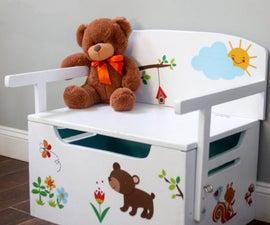 Kids Bench + Toy Chest + Desk