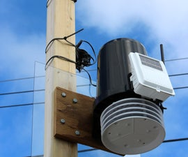 Weather Station Mounted on Tilting Tower
